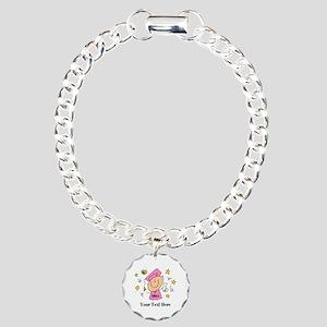 Cute Girl Graduate Charm Bracelet, One Charm