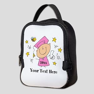 Cute Girl Graduate Neoprene Lunch Bag