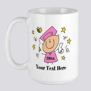 Cute Girl Graduate Large Mug