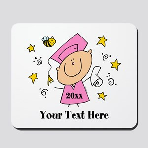 Cute Girl Graduate Mousepad