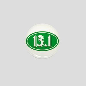 13.1 Half Marathon Oval Green Mini Button