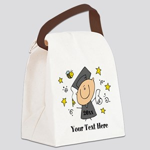 Cute Boy Graduate Canvas Lunch Bag
