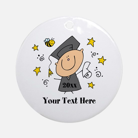 Cute Boy Graduate Ornament (Round)