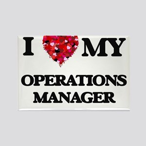 I love my Operations Manager hearts design Magnets