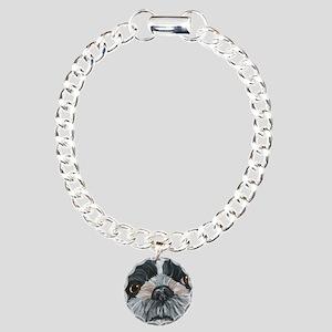 Shih Tzu Charm Bracelet, One Charm