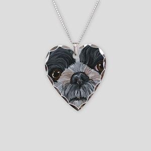 Shih Tzu Necklace Heart Charm