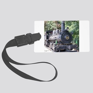 steam train close up shot Large Luggage Tag