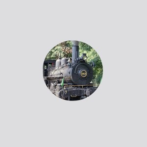 steam train close up shot Mini Button