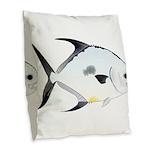 Permit v2 Burlap Throw Pillow