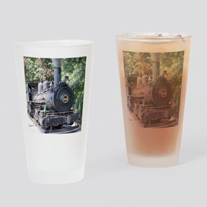 steam train close up shot Drinking Glass
