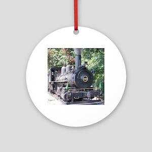 steam train close up shot Ornament (Round)