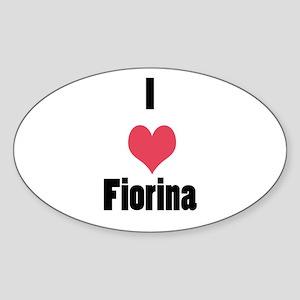 I Love (Heart) Fiorina Sticker (Oval)