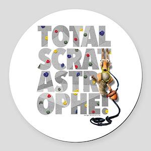 Total-Scratastrophe! Round Car Magnet