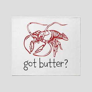 Got Butter Throw Blanket