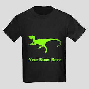 Velociraptor Silhouette (Green) T-Shirt