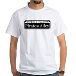 Pirates Alley Street Sign White T-Shirt