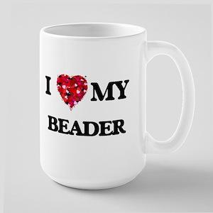 I love my Beader hearts design Mugs
