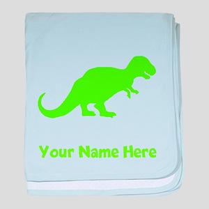 Tyrannosaurus Rex Silhouette (Green) baby blanket