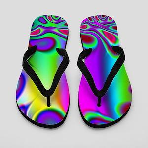 Rainbow Fractal Flip Flops