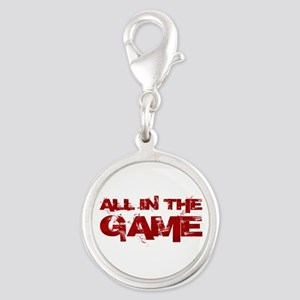 All in the Game Silver Round Charm