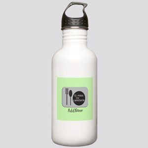 CUSTOM Text Cafeteria Stainless Water Bottle 1.0L