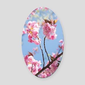 Elevating blooms Oval Car Magnet