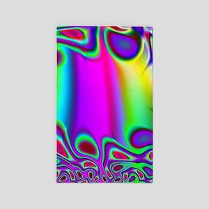 Rainbow Fractal Area Rug