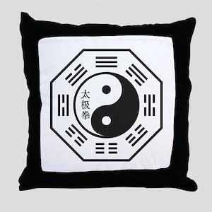 Tai Chi Symbol Throw Pillow