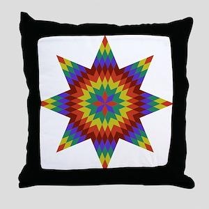 Native Stars Throw Pillow