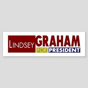 LIndsey Graham for President V1 Sticker (Bumper)