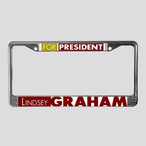 LIndsey Graham for President V License Plate Frame