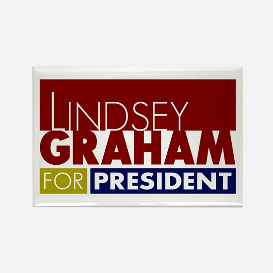 LIndsey Graham for Pre Rectangle Magnet (100 pack)