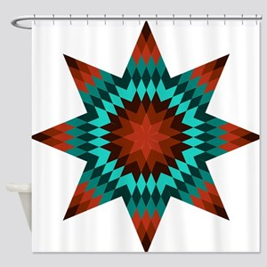 Native Stars Shower Curtain