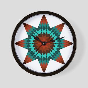Native Stars Wall Clock