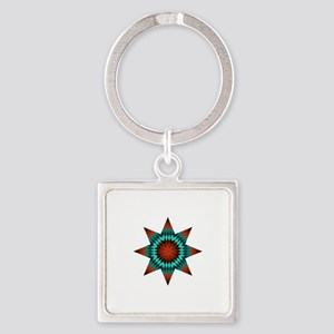 Native Stars Square Keychain