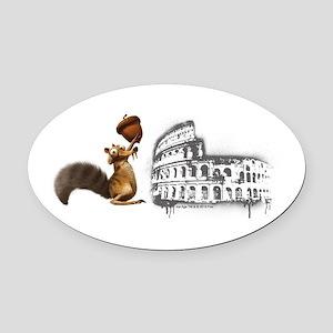 Ice Age Scrat Colosseum Oval Car Magnet