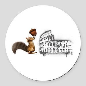 Ice Age Scrat Colosseum Round Car Magnet