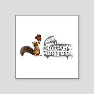 """Ice Age Scrat Colosseum Square Sticker 3"""" x 3"""""""