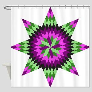 Native Stars Shower Curtain
