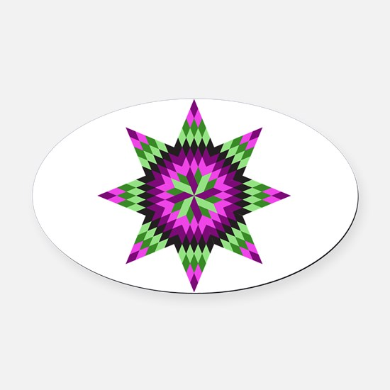 Native Stars Oval Car Magnet