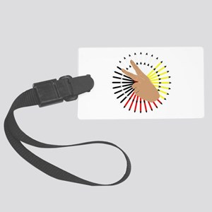 native hand Large Luggage Tag