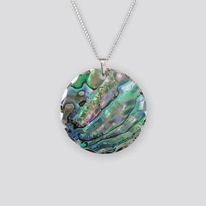 abalone Necklace Circle Charm