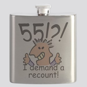 Recount 55th Birthday Flask