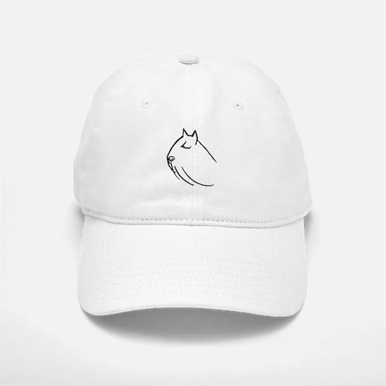Bouvier Dog Head Sketch Baseball Baseball Cap