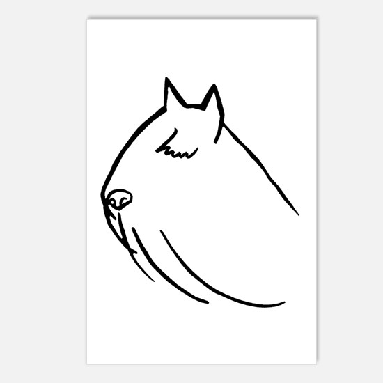Bouvier Dog Head Sketch Postcards (Package of 8)