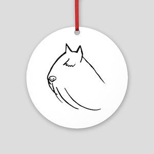 Bouvier Dog Head Sketch Ornament (Round)