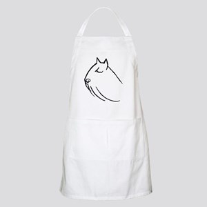 Bouvier Dog Head Sketch BBQ Apron