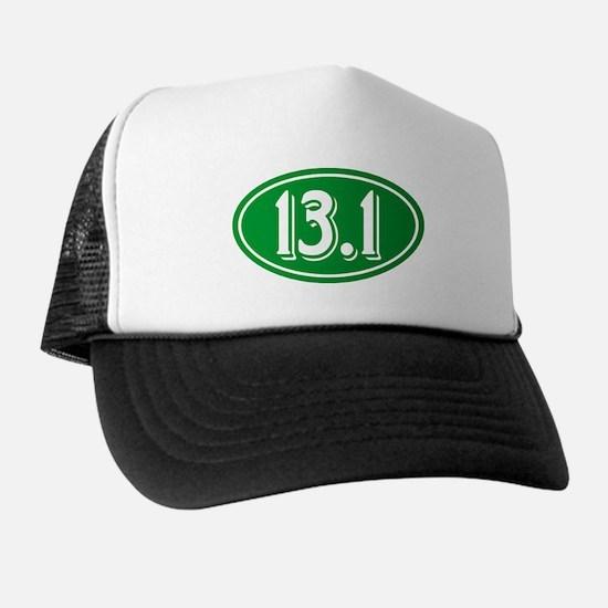 13.1 Half Marathon Oval Green Trucker Hat