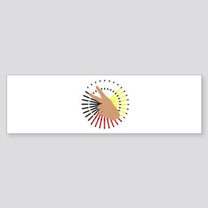 Native Hand Sign Bumper Sticker