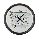 Atlantic Flats Big 3 Large Wall Clock